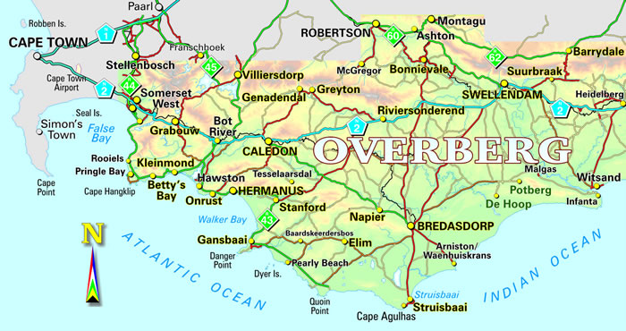 Overberg Map